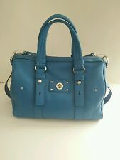 NWT Marc by Marc Jacobs Turnlock Shifty Large Leather Satchel Bag Aquamarine