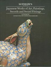 SOTHEBY'S JAPANESE ART NETSUKES INRO TSUBA SWORGDS PORCELAIN SWORDS Catalog 1990