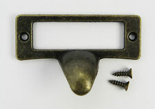 Schubladengriff Messing Beschriftung Messing antik rustikal