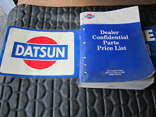 Nissan Official Confidential Dealer Price List Manual of 1996