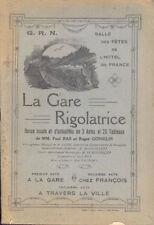La Gare Rigolatrice/Revue/Théatre/Rouen/Hotel de France/Programme/1921
