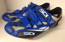 SiDi Clipless Road Bike Shoes US 9(ish) EU 42.5  - 3 Bolt Blue Biking