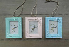 Set of 3 Mini Hanging Photo Frames Pretty Pastels, by Sass & Belle