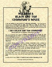 Rules In A Black and Tan Coonhound's House
