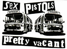 SEX PISTOLS STICKER PRETTY VACANT BUSES SID VICIOUS 77 ENGLISH PUNK ROCK 1977 A6