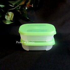 Tupperware NEW 2 Freezer FREEZE mate MINI frozen storage containers Green Seal