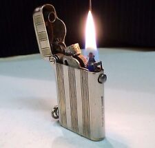 BRIQUET Ancien *- THORENS -* Art Déco Very old Fuel Lighter Feuerzeug Accendino