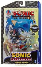 Sonic the Hedgehog Action Figure Comic Book Pack Shadow Silver Exclusive paint