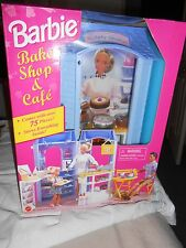 1998 BARBIE DOLL BAKE SHOP AND CAFE PLAYSET  new in sealed box. Free shipping!