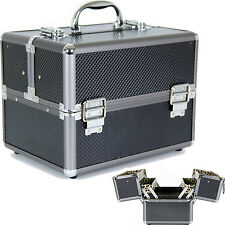 Aluminum Makeup Train Case to Store and Organize Makeup Jewelry