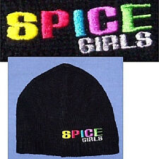 THE SPICE GIRLS EMBROIDERED LOGO BLACK SKI HAT BEANIE NEW CAP OFFICIAL