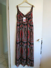 ZARA WOMAN   size L     Lovely Long Length Soft Flowy Slinky SUMMER Dress.
