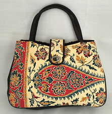 New Japanese kimono bag with handles, lined, imported from Japan (C243)