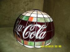 "Stained Glass, Tiffany Style, 'Coca-Cola' - Table-Lamp Shade - 12"" - BEAUTIFUL!"