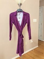 DVF NEW JEANNE TWO WRAP DRESS SIZE 8