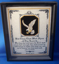"""Bible Verses""""They That Wait Upon The Lord"""" Plaques Christain Inspirational Gifts"""