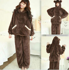 Unisex Adult Pajamas Bear Kigurumi Cosplay Costume Animal Sleepwear  Hoodie