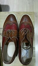 gents two coloured soft leather white soled brogues from USA 9