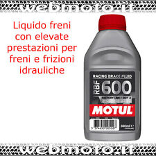 MOTUL BRAKE FLUID RBF600 DOT4 LIQUIDO FRENI 500 ML