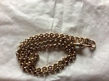 9ct YELLOW GOLD FACETED BELCHER LINK NECK CHAIN NECKLACE. BELCHER CHAIN