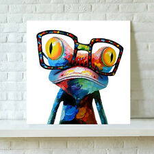 Unframe Modern Abstract Huge Wall Home Deco Art Oil Painting Canvas Glasses Frog