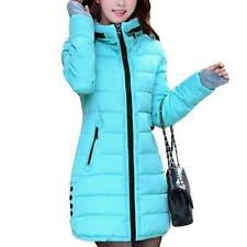 Winter Women Down Cotton Parka Long Fur Collar Hooded Coat Jacket Outerwear