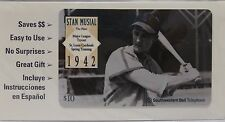 1995 Stan Musial St. Louis Cardinals 10 minute Phone Card Unused Sealed