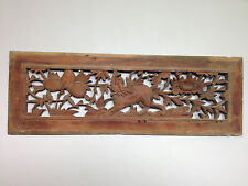 Chinese Asian Carved Wood Bed Door Panel