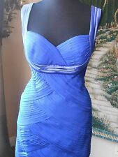 Tadashi Royal Blue Dress Size 10 100% SILK  NWT
