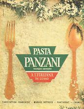 Publicité 1961  PASTA PANZANI pates à l'italienne