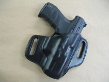 H&K Heckler & Koch VP9, VP40 Leather 2 Slot Molded Pancake Belt Holster BLACK RH
