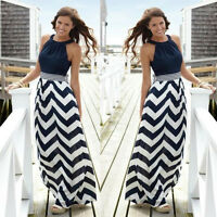 New Sexy Ladies Summer Holiday Maxi Dress Party Long Skirt Plus Size 8 10 12 14