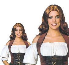 Ladies Black Velvet Corset German Bar Maid Oktoberfest Sexy Fancy Dress Costume