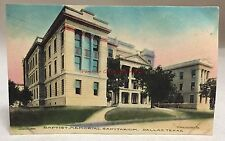 1908 Hand Colored Baptist Memorial Sanitarium Dallas Texas TX Antique PC
