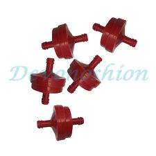 """5X 1/4"""" INLINE RED GAS FUEL FILTER FOR BRIGGS & STRATTON 298090 298090S 395018"""