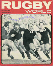 RUGBY WORLD MAGAZINE SEPTEMBER 1970 - PERFECT GIFT FOR A FAN BORN IN THIS MONTH