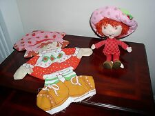 STRAWBERRY SHORTCAKE PLUSH DOLL AND MATCHING CUT-OUT