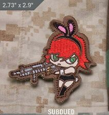 Mil-Spec Monkey Bunny Girl Morale Patch Subdued Hook Back