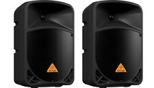 "2X Behringer B110D Active 10"" 2-Way Powered PA Speakers 300W Amplified"