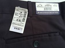 NWT Jos A Bank 42 Reg Unhemmed Executive Dress Pants Pleated Front Navy C96