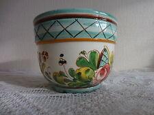 Topf Blumentopf 50er 60er 70er Keramik Übertopf Majolika Italy handarbeit floral