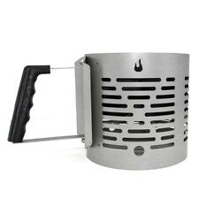 Half-Time Charcoal Starter, Silver Advanced Quick & Even Ideal for Lump Charcoal