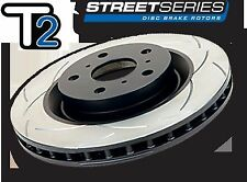 DBA T2 FRONT PAIR Slotted DISC BRAKE Rotors for Holden Commodore VT VU VX VY VZ
