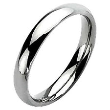 Plain Polished 5mm TITANIUM Women's Wedding Ring Band, size 6 -NEW- in Gift Box!