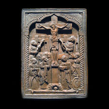 Crucifix Icon Christian Plaque Sculpture Replica Reproduction