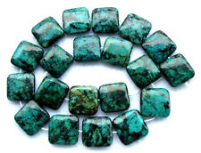 Natural Africa Turquoise Flat Square Beads 20×20mm15.8""