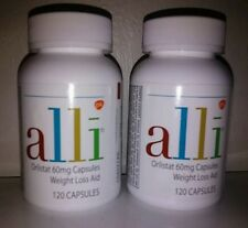 2 BOTTLES: Alli Orlistat Weight Loss 120 ct Capsules (240 total) Sealed. NEW
