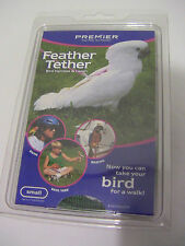 Premier Feather Tether Bird Harness /Leash Small Green Quakers, Goffins,Timnehs