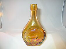 MARTIN LUTHER KING JR. WHEATON GLASS AMBER CARNIVAL GLASS BOTTLE MILLVILLE NJ US