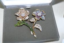 Nolan Miller Country Garden Flower Pin Set. Signed, COA, lifetime warranty card